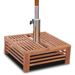Drewniana osłona uchwytu na parasol ogrodowy