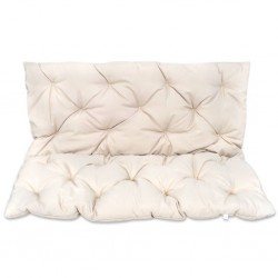 Kremowa poduszka na huśtawkę ogrodową 120 cm
