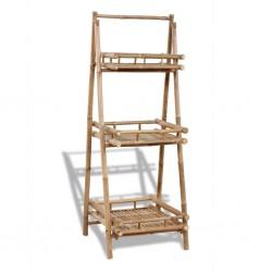 stradeXL Kwietnik z 3 półkami, bambus