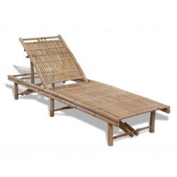 stradeXL Leżak plażowy, bambusowy