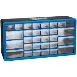 Draper Tools Organizer na narzędzia z 30 szufladami, niebieski, 12015
