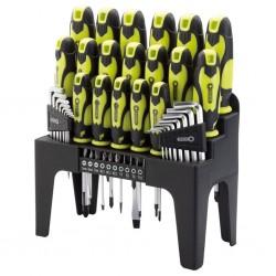 Draper Tools 44-częściowy zestaw wkrętaków, bitów i kluczy imbusowych