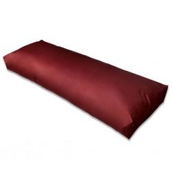 stradeXL Wyściełana poduszka na oparcie, 120x40x10 cm, ciemnoczerwone