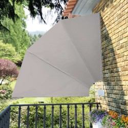 stradeXL Collapsible Balcony Side Awning Cream 210x210 cm