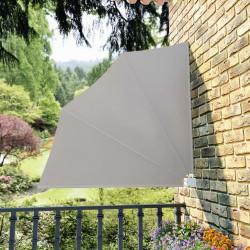 stradeXL Składany parawan balkonowy, kremowy, 140x140 cm