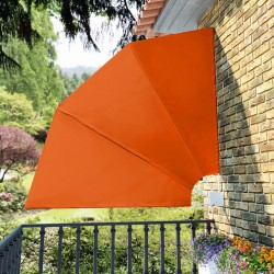 stradeXL Collapsible Balcony Side Awning Terracotta 210x210 cm