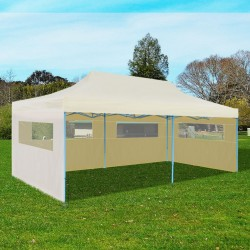 stradeXL Cream Foldable Pop-up Party Tent 3 x 6 m