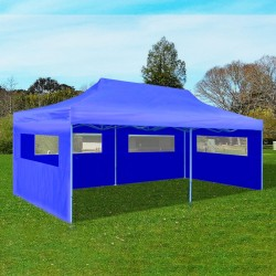 stradeXL Blue Foldable Pop-up Party Tent 3 x 6 m