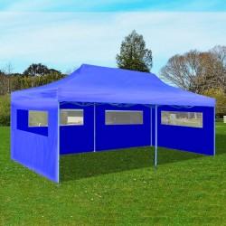 stradeXL Niebieski namiot imprezowy, rozkładany, 3 x 6 m