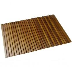 stradeXL Mata prysznicowa z drewna akacjowego, 80 x 50 cm