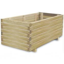 stradeXL Podwyższona donica, 100 x 50 x 40 cm, prostokątna, drewniana