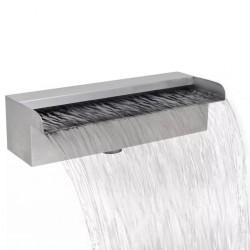 stradeXL Fontanna/wodospad do basenu, prostokątny, stal nierdzewna, 30 cm