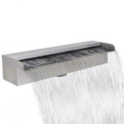 stradeXL Wodospad ze stali nierdzewnej, prostokątny, 45 cm
