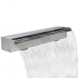 Fontanna / Wodospad do basenu Prostokątny ze stali nierdzewnej 60 cm