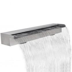 Fontanna / Wodospad do basenu Prostokątny ze stali nierdzewnej 90 cm