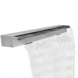 Fontanna / Wodospad do basenu Prostokątny ze stali nierdzewnej 120 cm