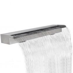 Fontanna / Wodospad do basenu Prostokątny ze stali nierdzewnej 150 cm