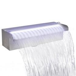 stradeXL Fontanna/wodospad do basenu, 30 cm, z oświetleniem LED