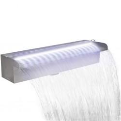 stradeXL Fontanna do oczka wodnego, z oświetleniem LED, 45 cm