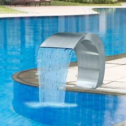 stradeXL Fontanna ze stali nierdzewnej do basenu ogrodowego, 45x30x60 cm