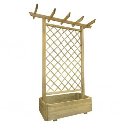 stradeXL Garden Pergola Planter 162x56x204 cm Wood