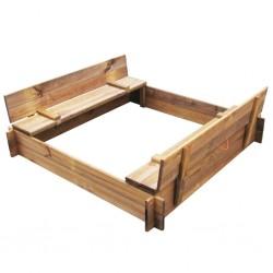 stradeXL Sandbox Impregnated Wood Square