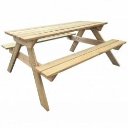 stradeXL Stół piknikowy, 150 x 135 x 71,5 cm, drewno