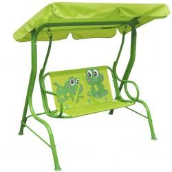 stradeXL Kids Swing Seat Green