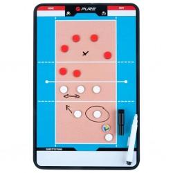 Pure2Improve Dwustronna tablica trenerska do siatkówki, 35x22 cm