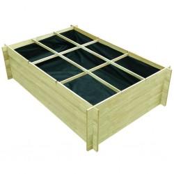 stradeXL Podniesiona donica, 150 x 100 x 40 cm, impregnowane drewno