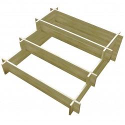 stradeXL Donica 3 poziomowa, 90 x 90 x 35 cm, impregnowane drewno