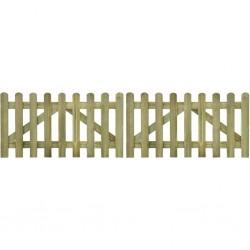 stradeXL Brama do płotu, 2 elementy, impregnowane drewno, 300x80 cm