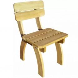 stradeXL Krzesło z oparciem z drewna sosnowego
