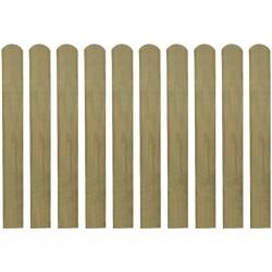stradeXL Impregnowane sztachety, 10 szt., drewno, 80 cm