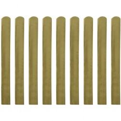 stradeXL Impregnowane sztachety, 10 szt., drewno, 100 cm