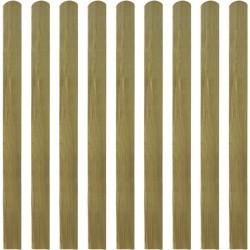 stradeXL Impregnowane sztachety, 10 szt., drewno, 120 cm