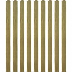stradeXL Impregnowane sztachety, 10 szt., drewno, 140 cm