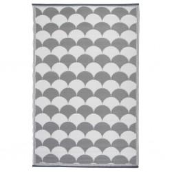 Esschert Design Dywan zewnętrzny, 180x121 cm, szaro-biały, OC24