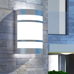stradeXL Outdoor Wall Light Stainless Steel