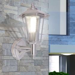 stradeXL Outdoor Uplight Wall Lantern Stainless Steel