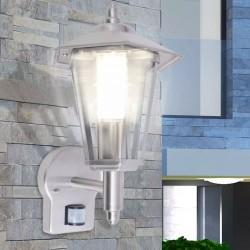 stradeXL Outdoor Uplight Wall Lantern with Sensor Stainless Steel