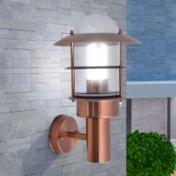 stradeXL Outdoor Wall Light Stainless Steel Copper