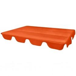 stradeXL Zadaszenie do huśtawki ogrodowej, pomarańczowe, 226 x 186 cm