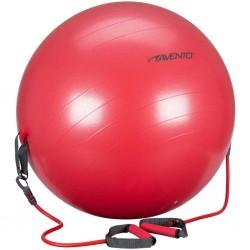 Avento Piłka fitness z uchwytami, 65 cm, czerwona, 41TO-ROG-65