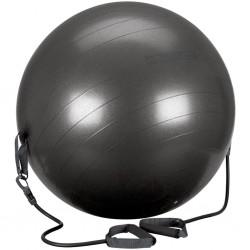 Avento Piłka fitness z uchwytami, 65 cm, czarna, 41TO-ZWG-65