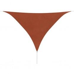 stradeXL Żagiel ogrodowy z tkaniny oxford, trójkąt 5x5x5 m, terakota