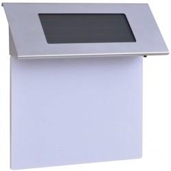 stradeXL Solarna lampa LED do podświetlania numeru domu, stal nierdzewna