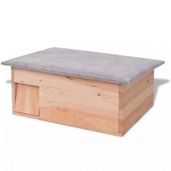 stradeXL Domek dla jeży, 45x33x22 cm, drewniany