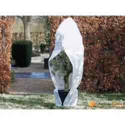 Nature Kaptur ochronny na rośliny z zamkiem, 70 g/m², biały 2,5x2,5x3m