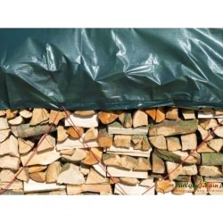 Nature Wood Tarpaulin 1.5x6 m PE Green